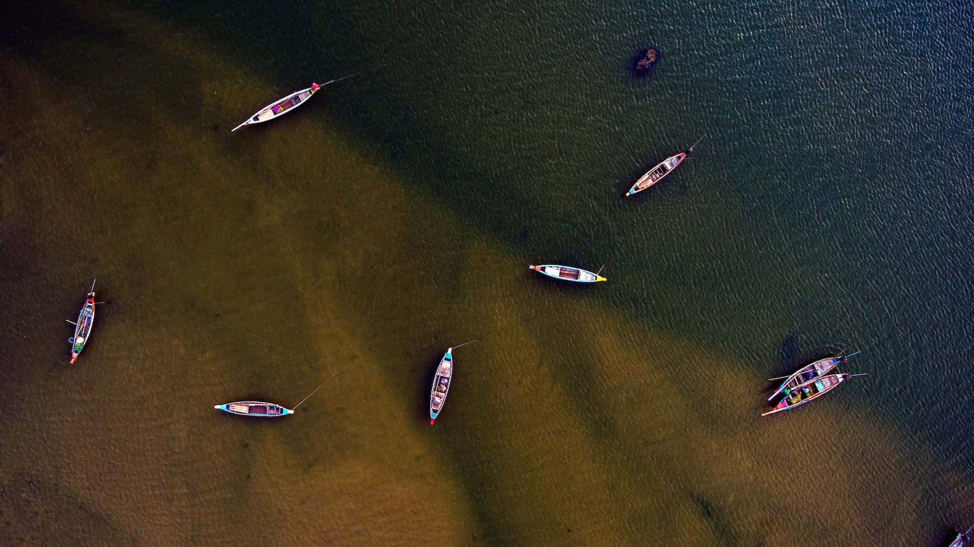 Alakananda RiverFront - Boats Aerial Shot